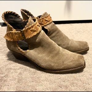 Jeffrey Campbell Taupe Ankle Booties